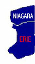 Map of Erie-Niagara county in New York